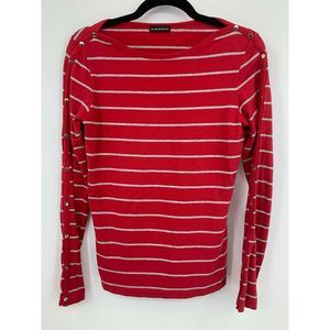 Club Monaco womens shirt long sleeve stripes snaps